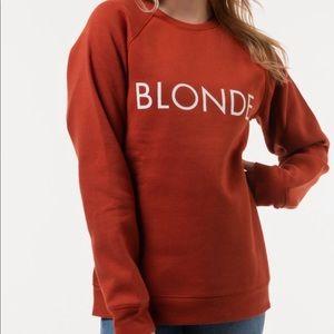 NWT Brunette the Label BLONDE Rust Sweatshirt